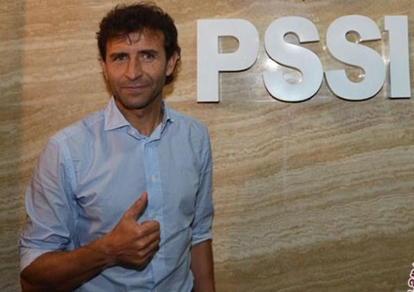 Pelatih Timnas Indonesia Luis Milla - Antara