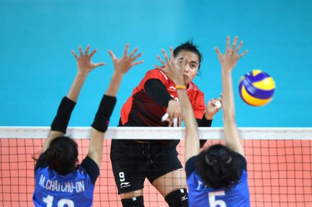 Atlet bola voli putri Indonesia, Aprilia Manganang - Antara