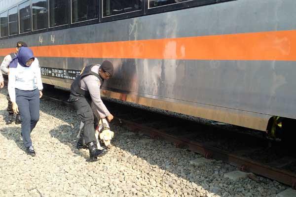 Ilustrasi pengecekan kereta api. - Bisnis/Alif Nazzala Rizqi