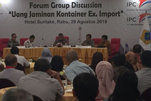 FGD Uang Jaminan Kontainer Eks-Impor yang digelar GINSI DKI Jakarta pada Rabu (29/8/2018). - Bisnis.com/Akhmad Mabrori