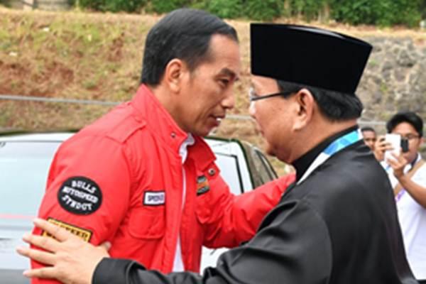 Ketua Umum PB IPSI Prabowo Subianto menyambut Presiden Jokowi - Biro Pers Setpres/Laily Rachev