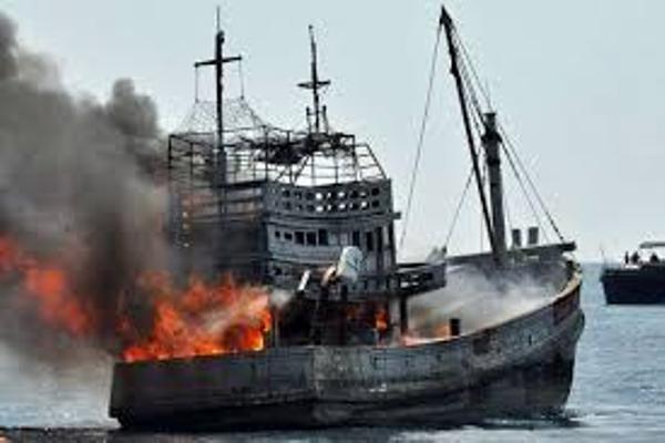 Ilustrasi: Penenggelaman Kapal Eks-Asing - Antara