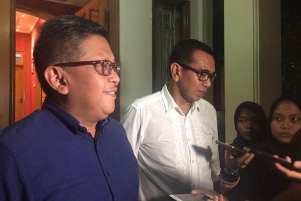 Hasto Kristiyanto, Sekretaris Tim Kampanye Nasional Jokowi-Ma'ruf, saat memberi keterangan di Rumah Cemara 19, Jakarta (29/8 - 2018).