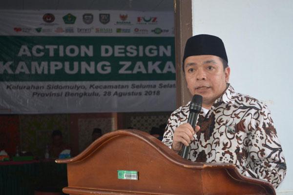 Direktur Pemberdayaan Zakat dan Wakaf Kementerian Agama M. Fuad Nasar saat peluncuran program Kampung Zakat di Bengkulu. - Istimewa/Kemenag