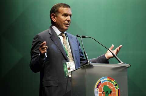 Presiden Conmebol Juan Angel Napout - Reuters/Jorge Adorno