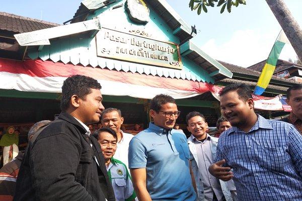 Sandiaga Uno saat berkunjung ke Pasar Beringharjo, Kamis (30/8/2018). - JIBI/Irwan A. Syambudi