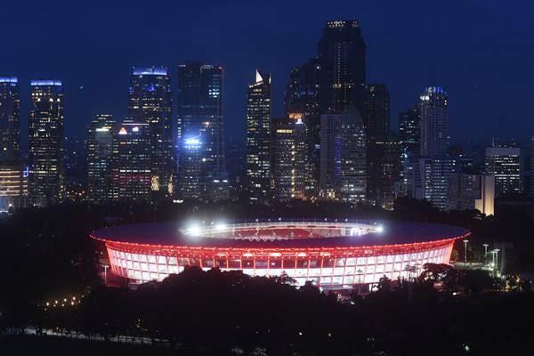 Suasana Stadion Utama Gelora Bung Karno (SUGBK) di Jakarta, Kamis (11/1). - ANTARA/Akbar Nugroho Gumay