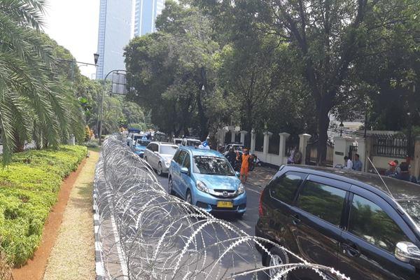 Suasana arus lalu lintas dari Bundaran HI ke Menteng, Jakarta Pusat, Jumat (10/8/2018). - JIBI/Jaffry Prabu