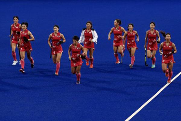 Tim hoki putri Jepang akan bertemu India di final Asian games 2018. - Antara