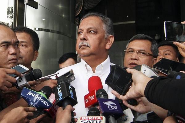 Direktur Utama PT PLN Sofyan Basir, usai menjalani pemeriksaan di gedung KPK, Jakarta, Jumat (20/7/2018). - ANTARA/Dhemas Reviyanto
