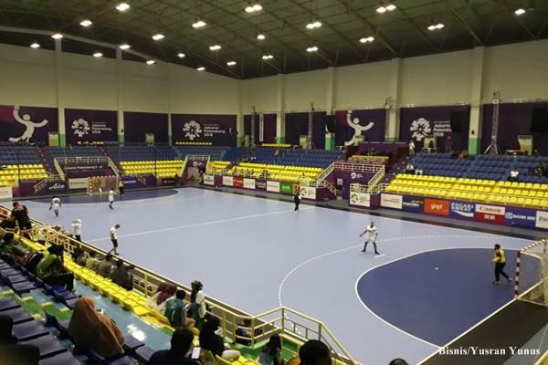 Lapangan Bola Tangan di GOR POPKI Cibubur Jakarta Timur/Bisnis - Yusran Yunus