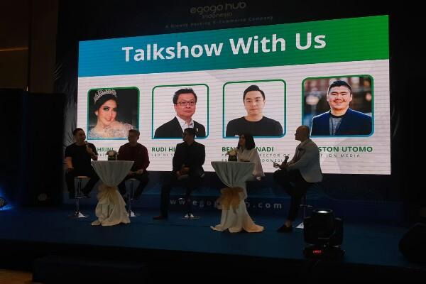 Para narasumber pada konferensi pers Egogohub Indonesia  -  Bisnis /Eva Rianti