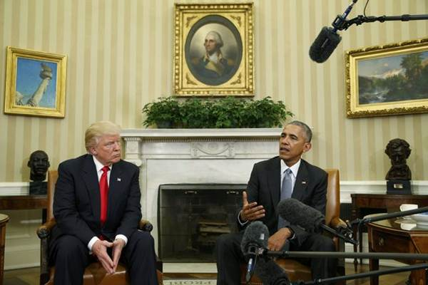 Donald Trump dan Barack Obama - Reuters