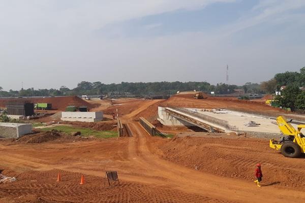 Lokasi Simpang Susun Serpong yang Tengah Persiapan Konstruksi dalam Bagian Ruas Tol KunciranSerpong. - Irene Agustine