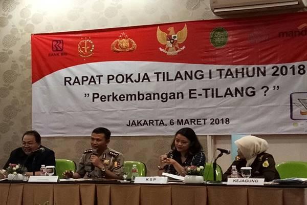 Rapat kelompok kerja membahas kemajuan sistem tilang elektronik di Jakarta, Selaa (6/3). - Istimewa