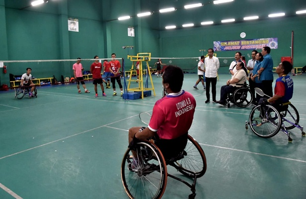 Atlet Indonesia untuk Para Asian Games sedang berlatih - Inapgoc
