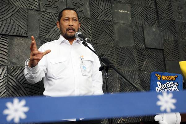Direktur Utama Badan Urusan Logistik (Bulog) Budi Waseso memberikan penjelasan mengenai impor beras, di Jakarta, Rabu (19/9/2018). - JIBI/Dedi Gunawan