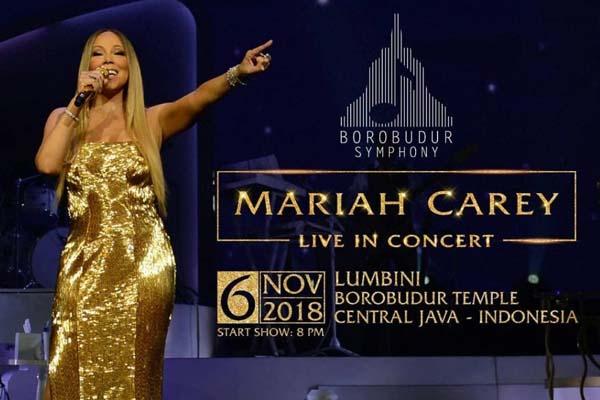 Tiket Borobudur Symphony 2018 dibagi dalam lima jenis. Tiket Festival seharga Rp1 juta, Gold Rp2 juta, Platinum Rp3,5 juta, Diamond Rp7 juta, dan Super VVIP. Khusus Super VVIP harga dapat diketahui langsung ke pihak penjual. Pemegang tiket Super VVIP akan berkesempatan bertemu langsung dengan Mariah Carey. - Istimewa