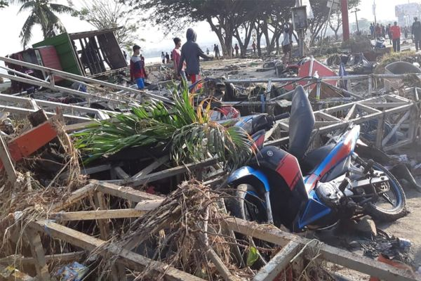 Sejumlah kerusakan akibat gempa dan tsunami di Palu, Sulawesi Tengah, Sabtu (29/9). - ANTARA FOTO/BNPB/pras