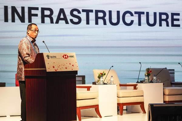 Menteri Perhubungan Budi Karya Sumadi menjadi pembicara dalam BKPM - HSBC Infrastructure Forum pada rangkaian Pertemuan Tahunan IMF - World Bank Group 2018 di Nusa Dua, Bali, Kamis (11/10/2018). - ANTARA/Jefri Tarigan