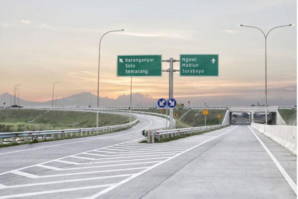 Jalan tol Solo-Ngawi, bagian dari tol Trans Jawa. - Istimewa/PT Jasamarga Solo Ngawi