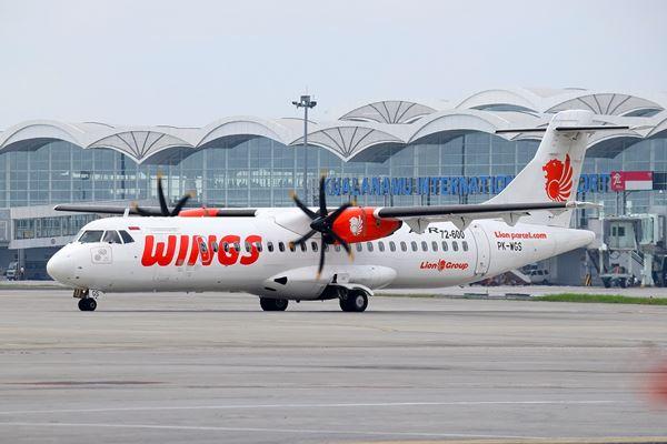 Wings Air ATR 72-600 PK-WGS di Kualanamu Medan International Airport - Istimewa