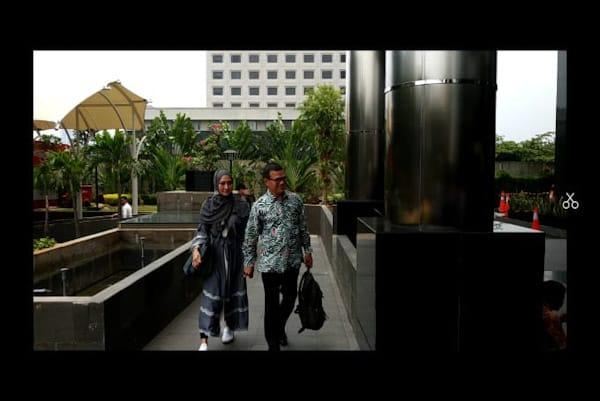 Fenny Steffy Burase di KPK - Bisnis.com // Rahmad Fauzan
