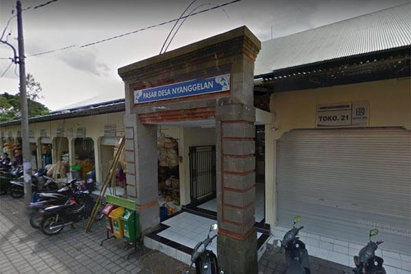 Pasar Desa Nyanggelan, Desa Pakraman Panjer, Kecamatan Denpasar Selatan. Foto: Google Street View, Desember 2014