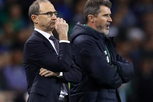 Martin ONeill (kiri) dan Roy Keane. - Twitter@OptaJoe