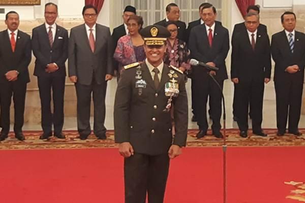 Letnan Jenderal TNI Andika Perkasamenggantikan posisi KSAD Jenderal TNI Mulyono yang akan pensiun. - Bisnis/Yodie Hardiyan