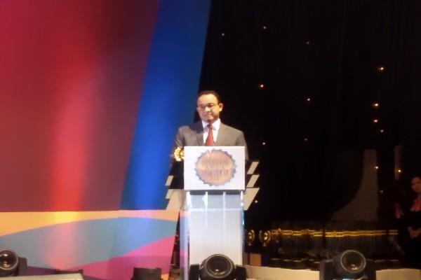 Anies Baswedan berikan sambutan dalam Indonesia Property and Bank Award XIII - Bisnis/Muhamad Wildan