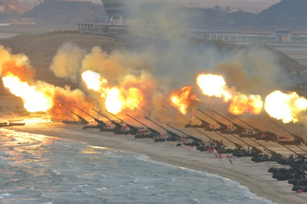 Ilustrasi: Latihan militer Korea Utara - Reuters