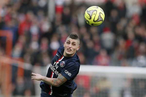 Gelandang Paris Saint-Germain Marco Verratti - Reuters/Gonzalo Fuentes