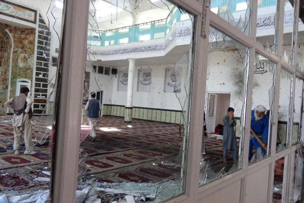 Ilustrasi bom di masjid di Afghanistan pada 4 Agustus 2018. - Reuters