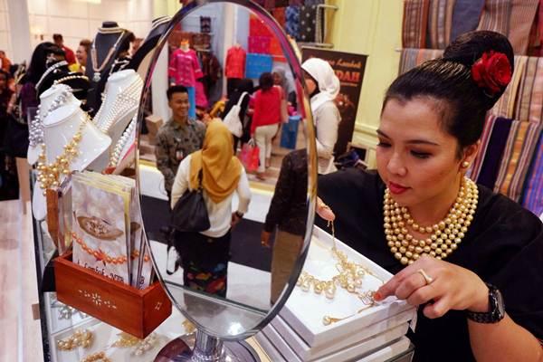 Suasana pada pameran Karya Kreatif Indonesia 2018 di Jakarta Convention Center, Jumat, (20/7/2018). - JIBI/Nurul Hidayat