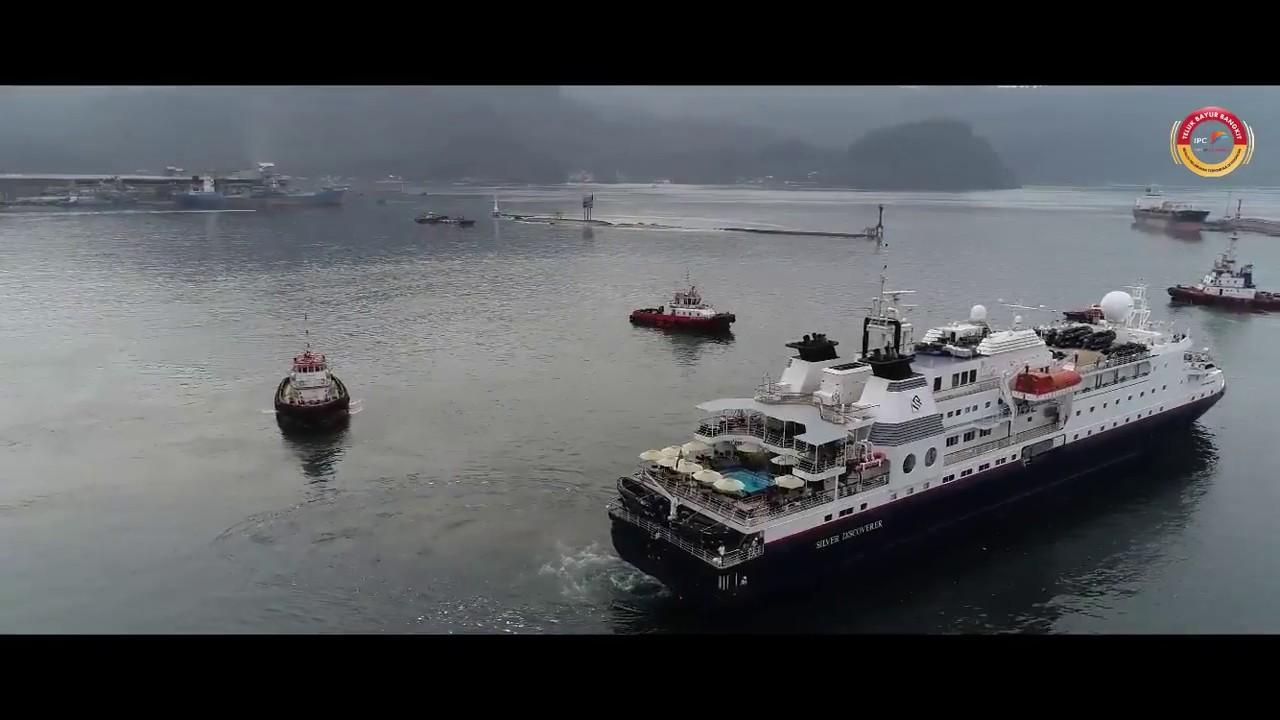 Kunjungan Kapal Pesiar Silversea Expeditions di Pelabuhan Teluk Bayur. Video koleksi IPC Teluk Bayur