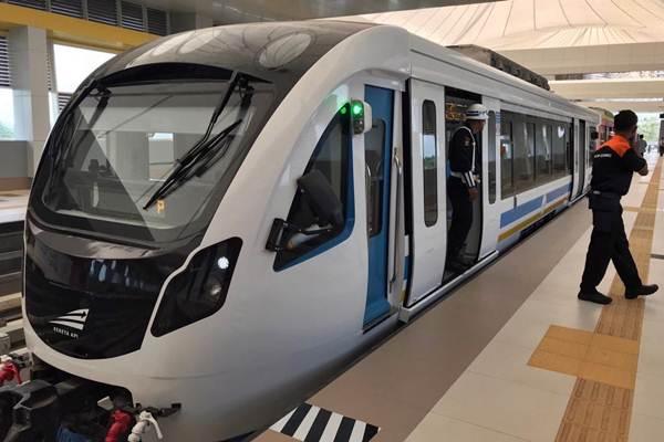 Light Rail Transit (LRT) di Palembang, Sumatra Selatan, Rabu (1/8/2018). - JIBI/Arif Budisusilo
