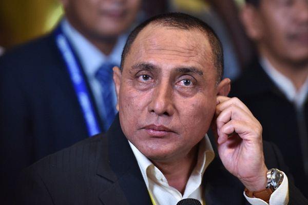 Ketua Umum PSSI terpilih Edy Rahmayadi di sela Kongres PSSI di Jakarta, Kamis (10/11). - Antara/Wahyu Putro A