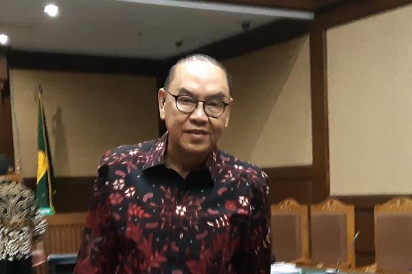 Pemegang saham Blackgold Natural Resources Ltd, Johanes Budisutrisno Kotjo, di Pengadilan Tipikor Jakarta, Kamis (15/11/2018). -Bisnis.com - Samdysara Saragih