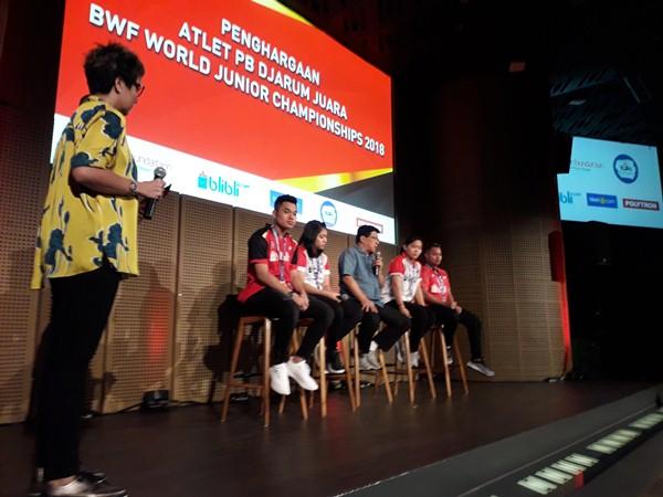 Juara di BWF World Junior Championships 2018, Leo/Indah Diguyur Bonus - Bisnis.com/Andhika