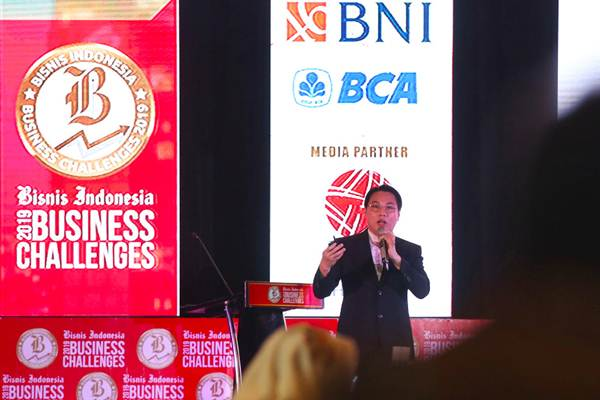 Master Feng Shui Yulius Fang berbicara pada acara Bisnis Indonesia Business Challenges 2019 di Jakarta, Senin (26/11/2018). - JIBI/Abdullah Azzam