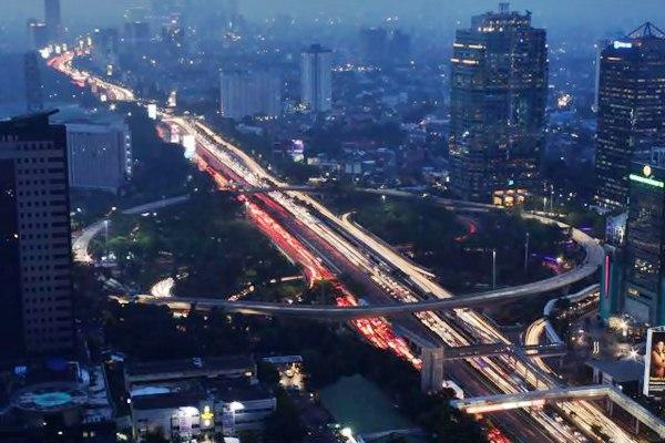 Proyek pembangunan Simpang Susun Semanggi, di Jakarta, Rabu (26/4). - JIBI/Nurul Hidayat