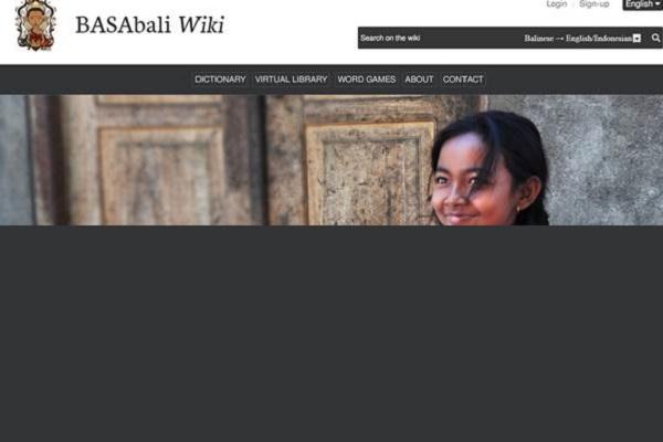 Tangkapan layar laman BASAbaliWiki - basabali.org