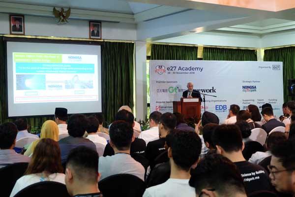 Nongsa Digital Park Menggelar e27 Academy di Batam. Kegiatan ini dilakukan untuk meningkatkan kapasitas pelaku industri digital Batam - Sarma Haratua