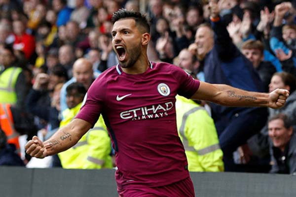 Striker Manchester City Sergio Aguero - Reuters/Darren Staples