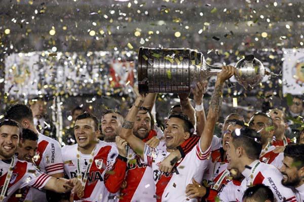River Plate ketika juara Copa Libertadores 2015 - Reuters/Martin Acosta
