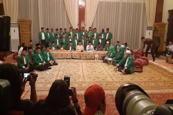 PPP kubu Humprey Djemat mendeklarasikan diri mendukung Prabowo-Sandi di kediaman Prabowo, Jalan Kertanegara, Jakarta, Rabu (28/11). JIBI/BISNIS - Jaffry Prabu Prakoso