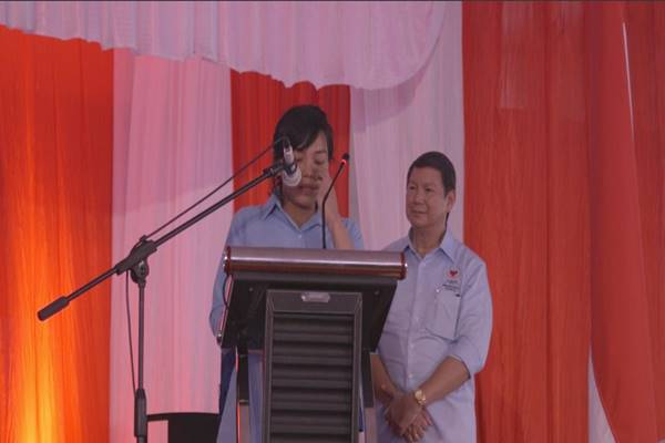 Cicit Panglima Jenderal Soedirman, Tisa Budiakso Soedirman, mendeklarasikan dukungan kepada pasangan calon presiden dan wakil presiden Prabowo Subianto-Sandiaga Uno pada pilpres 2019.  - Istimewa