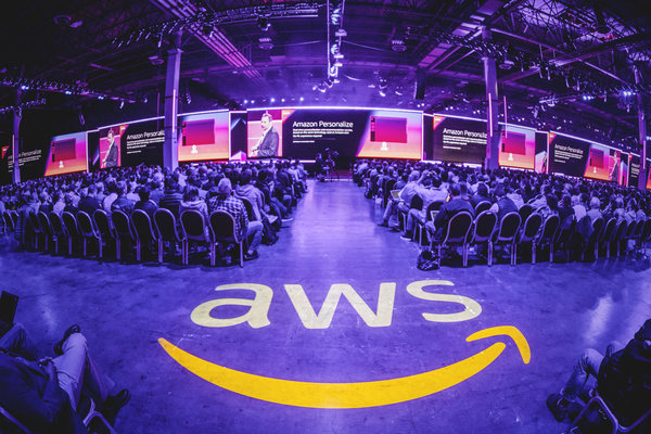 Suasana Hall A The Venetian, Las Vegas saat pemaparan keynote CEO Amazon Web Services (AWS) Andy Jassy, Rabu (28/11/2018) waktu setempat. - foto: AWS