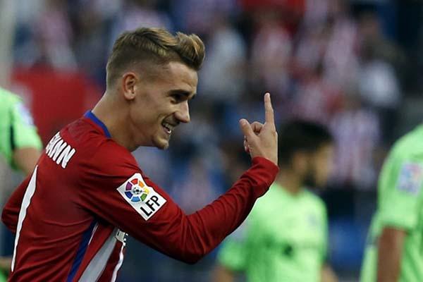 Penyerang Atletico Madrid Antoine Griezmann - Reuters/Sergio Perez